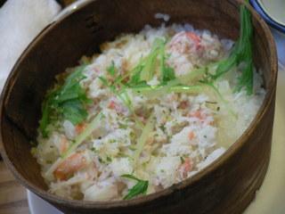 富山ランチブログ隊 季節料理 すづな ワッパ飯 かにワッパ飯 UP