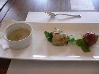 富山ランチブログ隊 4種の前菜盛り合わせ
