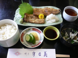 富山ランチブログ隊 「宇な義 鰻白焼きメニュー表」