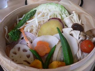 富山ランチブログ隊 カフェブルーリーブス 野菜たっぷりせいろ蒸し