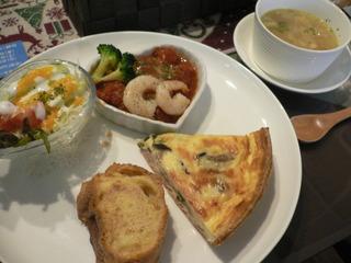 富山ランチブログ隊 カフェ・アンジュ(Cafe Ange)欧風プレート+スープ