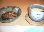 富山ランチ マグロのリブ煮込み。茶碗蒸し。