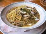 イカとたことニンニクのスープスパゲッティ
